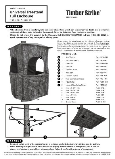 Universal Treestand Full Enclosure Big Dog Treestands