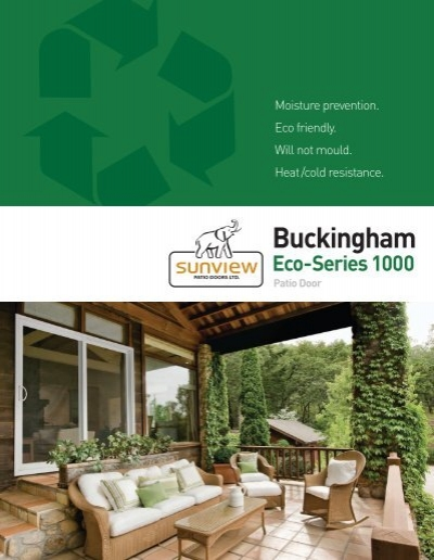 Buckingham Eco Series 1000 Patio Door Hgsitebuilder