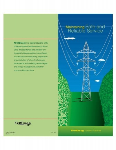 Maintaining Safe And Reliable Electric Service Firstenergy