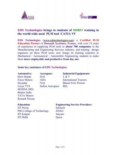 Eds Technologies Www Eds Technologies Pvt Ltd