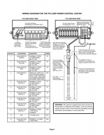 6 wiring diagram for the whelen pcc s9 wiring diagram at bayanpartner.co