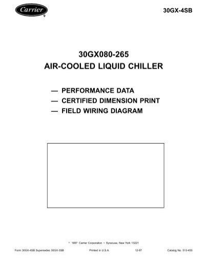 24260857 30gx080 265 air cooled liquid chiller ���\u20ac�\u201d performance data carrier 30gx chiller wiring diagram at suagrazia.org
