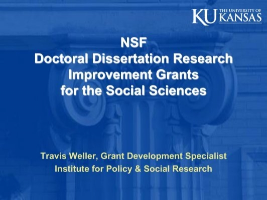 doctoral dissertation improvement Amount description the sociology program anticipates spending up to $600,000, pending the availability of funds proposal budgets should be developed at scales appropriate for the work to be conducted doctoral dissertation research improvement (ddri) awards may not exceed $12,000 the amount includes both.