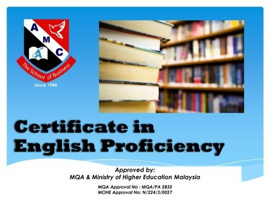 Approved By Mqa Ministry Of Higher Education Malaysia Amc