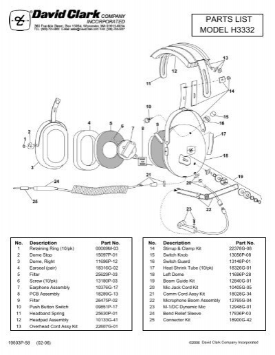 h3332  h3392 parts list and schematic