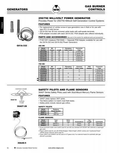 WHITE-RODGERS G01A-332 Cartridge,Generator