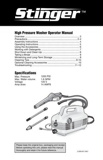 high pressure washer operator manual specifications order tree rh yumpu com Honda Pressure Washer Manual Pressure Washer Parts & Accessories