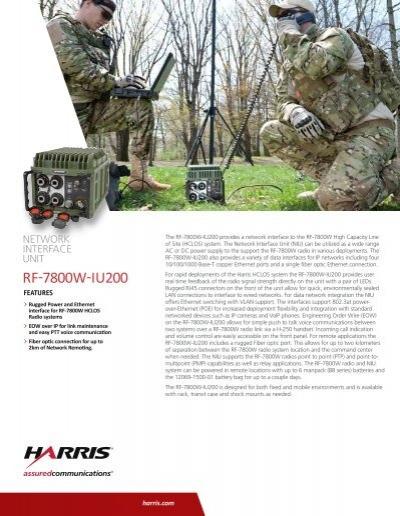 Harris 7800w manual