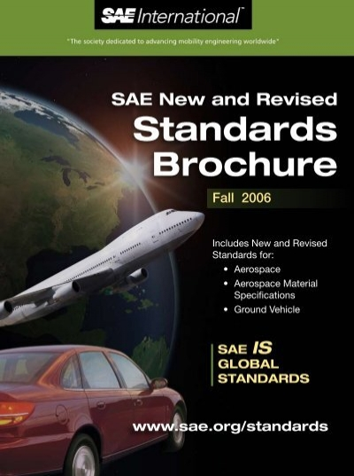 Sae New And Revised Standards Brochure