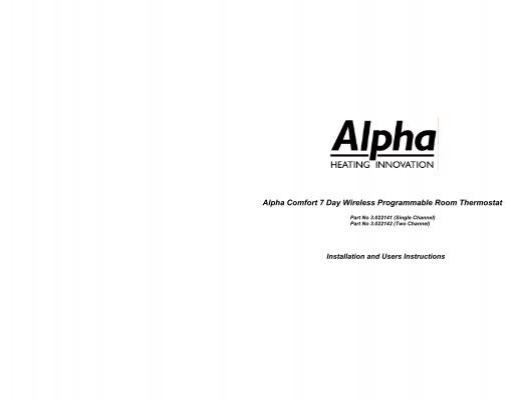 comfort digital wireless controller alpha boilers. Black Bedroom Furniture Sets. Home Design Ideas