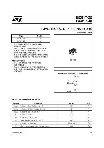 Small Signal Npn Transistor
