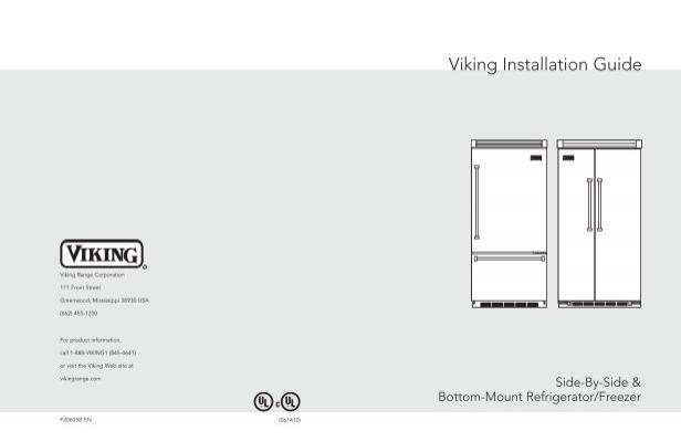 [DIAGRAM_1CA]  Viking Vcbb536rss Installation Instructions | Viking Professional Refrigerator Wiring Diagram |  | Yumpu