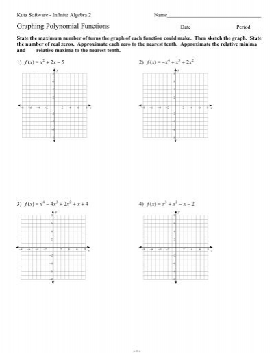 graphing polynomials worksheet worksheets releaseboard free printable worksheets and activities. Black Bedroom Furniture Sets. Home Design Ideas