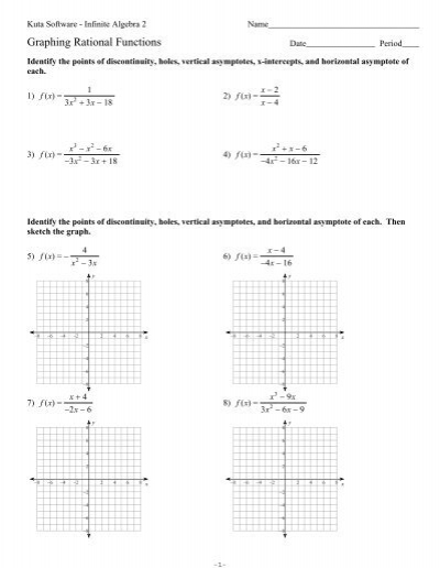graphing rational functions worksheet worksheets releaseboard free printable worksheets and. Black Bedroom Furniture Sets. Home Design Ideas
