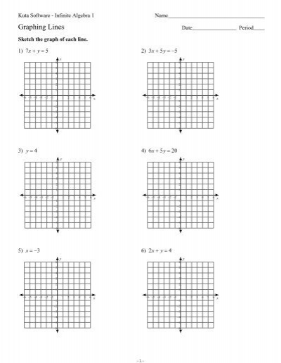 graphing lines sf.ks-ia1 - kuta software