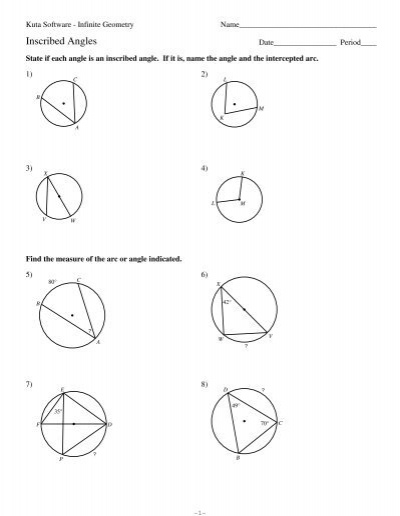 Kuta Worksheet On Angles - Breadandhearth