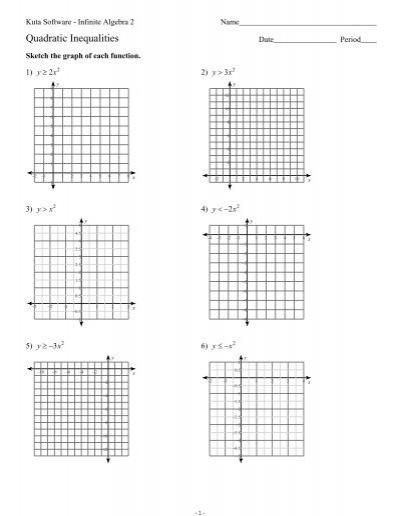 Quadratic Inequalities Ks Ia2 Kuta Software