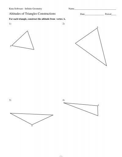13 altitudes of triangles constructions kuta software. Black Bedroom Furniture Sets. Home Design Ideas