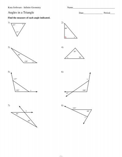 4 Angles In A Triangle Kuta Software