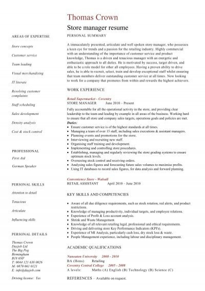T Mobile Store Manager Resume