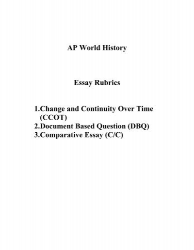 ap us history essay grading Like how much of raw score of mc counts toward your grade + how much essays count ap world history grading i bought the 2007 ap world history exam and.