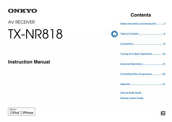 onkyo tx nr818 manual english eiki international inc rh yumpu com onkyo tx-nr818 service manual onkyo tx-nr818 manual pdf