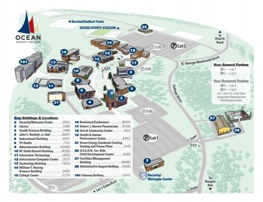 Campus Map Ocean County College