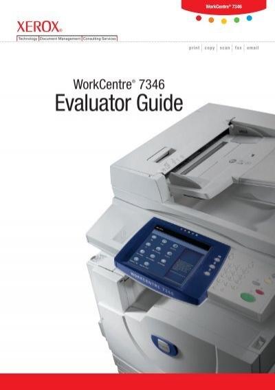 workcentre 7328 7335 7345 7346 evaluator guide pdf xerox rh yumpu com Xerox WC 7345 Toner Xerox 7345