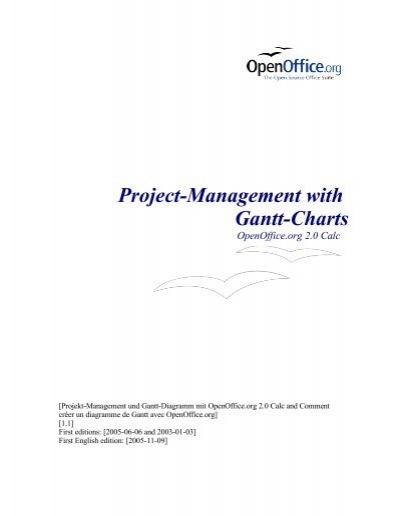 Project Management With Gantt Charts Openoffice
