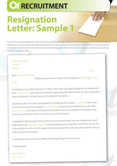 1 Day Notice Resignation Letter from www.yumpu.com