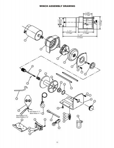 Winch Assembly Drawing3000 Lbs