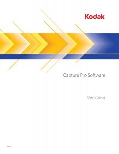 Kodak capture Lite manual