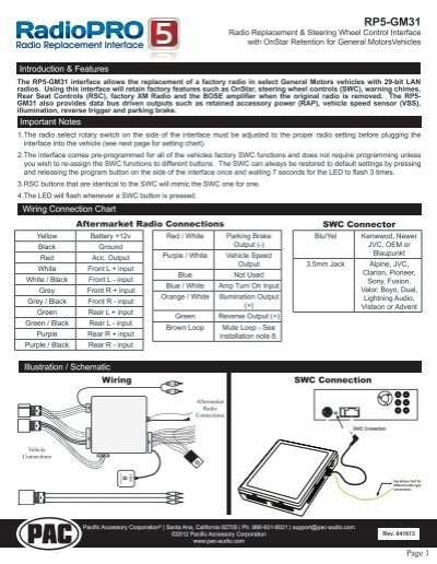 pac radio pro wiring diagram pac tr 7 wiring diagram