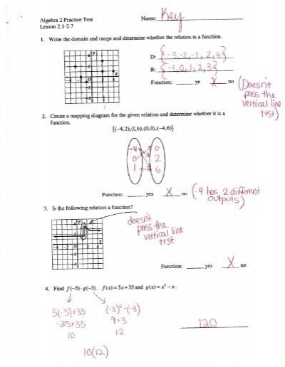 Free act math worksheets