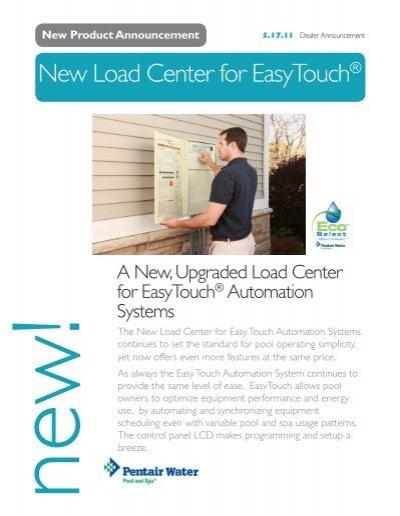 New Load Center for EasyTouch® - Pentair