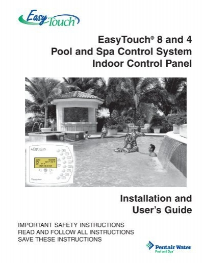 pentair easy touch manual pdf