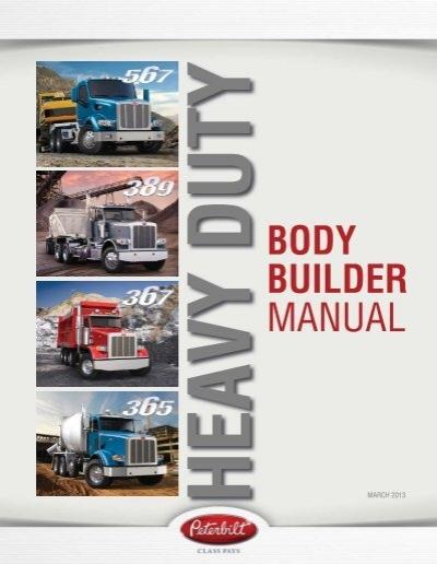 Heavy Duty Body Builder Manual Peterbilt Motors Company