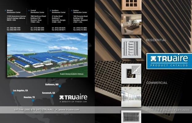 "Truaire T-Bar Fixed Bar Return Air Filter Grille White 24/"" X 24/"" 4020FG-2DB New"