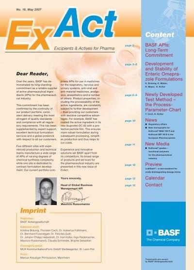 ExAct No  18 - Pharma Ingredients & Services BASF