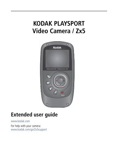 kodak playsport video camera zx5 rh yumpu com Kodak PlaySport Camera Pink Kodak PlaySport Camcorder