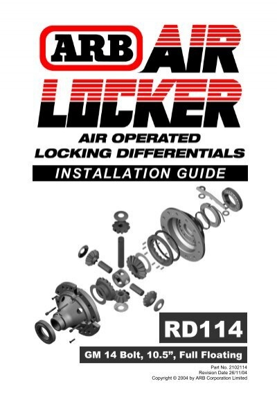 Arb Air Locker Installation Guide Pirate4x4