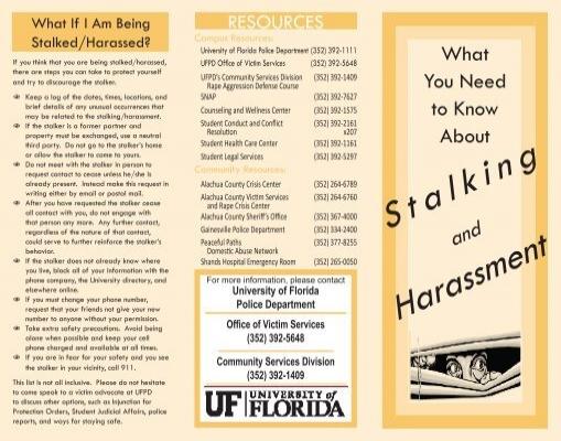 Stalking Harassment - UFPD - University of Florida
