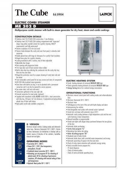 Lainox combi oven user manual pdf me 202 d lainox rh yumpu fandeluxe Image collections