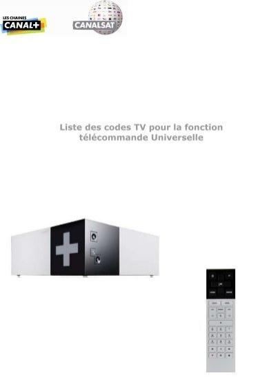 liste des codes tv pour la fonction t l commande universelle de. Black Bedroom Furniture Sets. Home Design Ideas