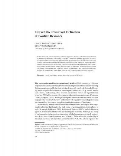 positive deviance definition