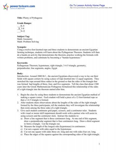 Proquest Information And Learning Example Lesson Plan Template