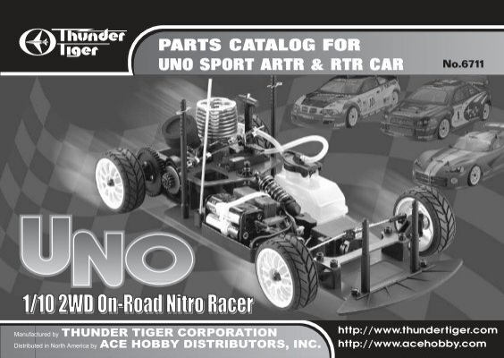 Parts Catalog For Uno Sport Artr Rtr Car Powertoys