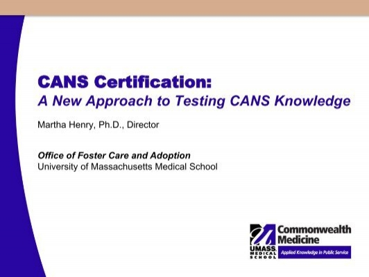 CANS Certification: - Praed Foundation