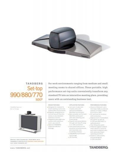 tandberg 770 880 990 mxp videokonferenz videoconferencia rh yumpu com TANDBERG 3000 Tandberg 1500