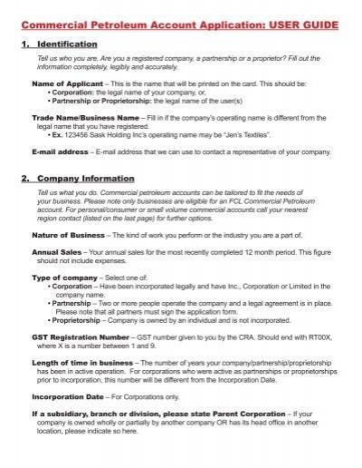 commercial petroleum account application user guide co op rh yumpu com User Guide Template Clip Art User Guide